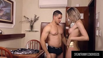 Shemale Barbara Perez Makes a Guy Suck Her Cock Before She Sodomizes Him