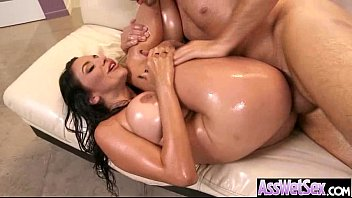 Cute Big Butt Girl (missy martinez) Get Oiled And Hard Anal Nailed On Cam video-17