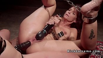 Bound redhead lesbian fisted and anal fucked
