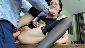 DIRECTOR FUCKED WICKED TEACHER AND CUM ON GLASSES 02