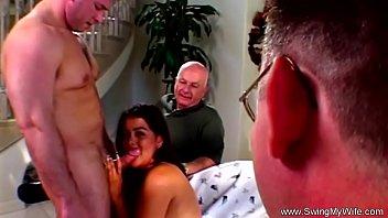 Swinger Wife Rides Strangers Dick