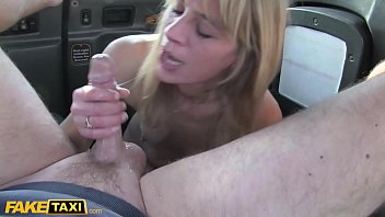 Fake Taxi Horny Dutch MILF with nice nipples and wet pussy fakes a facial