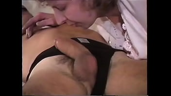 Aunt Joan sucks and swallows in this vintage video 5 min