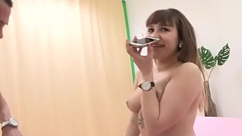 Melani laughs her ass off talking to the phone while fucking