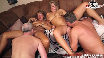 German mature wives have a private swinger party