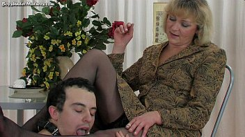 Blonde Mature Mom with young boy thumbnail