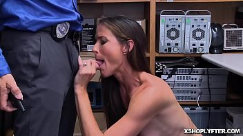 Milf office tall Milf shoplifter sofie marie goes down on her knees