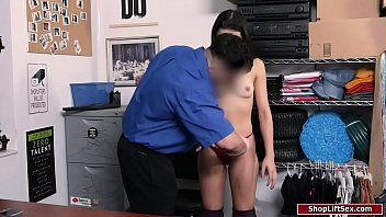 19yo brunette thief is fucked to go home