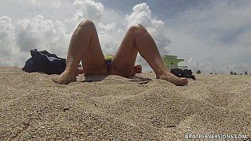 Exposed Pussy At The Beach Voyeur Cam