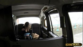 Glamorous chick goes hardcore anal sex in the backseat of the cab preview image