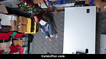 Ginger Teen Fucked For Stealing Electronics