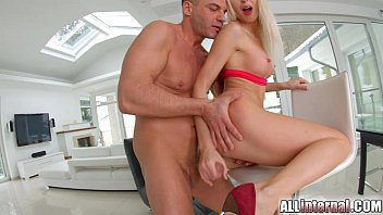 All Internal Nordic blonde happily laps up huge creampie Thumb
