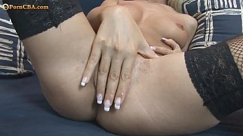 Little French Girl Playing Wit Her Shaved Pussy