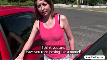 Sexy Meggie gets nailed by the agent in the woods to have the job