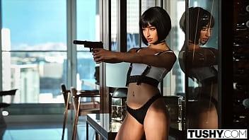TUSHY Bad girl Emily has an addiction to adrenaline & anal