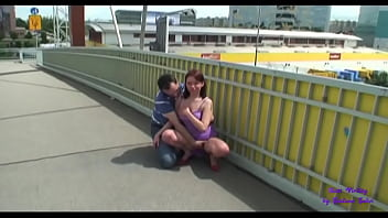 He likes to have sex in public and here they are on a highway bridge