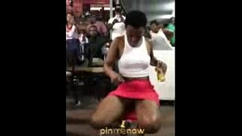 Lady Dancing After Drinking Some Bottles Of a.