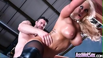 (Bridgette B) Horny Girl With Big Oiled Ass Get It Hard In Her Behind clip-12
