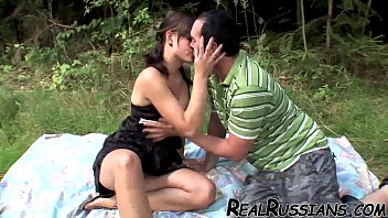 Russian Hot Couple Outdoor Sex !!
