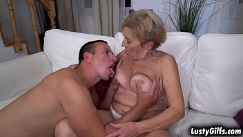 Horny sugar mommy Malya plays strip poker with her young lover that leads into a hot hardcore fucking scenes.