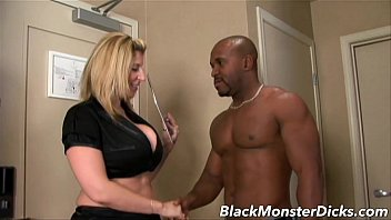 Big Boob Sara Jay Double Stuffed with Black Cock