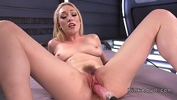 Blonde fucking machine and spanking pornhub video