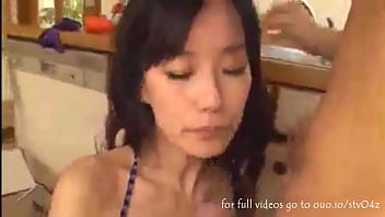 sexy housemaid with big boobs suck and fuck with her boss in the kitchen