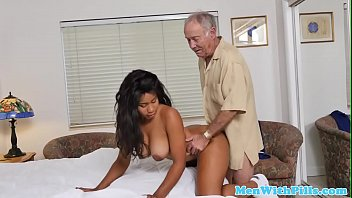 Ebony nurse fucks geriatrics at home visit