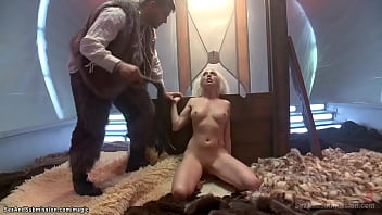Bound Blonde In Wall Stock Fucked