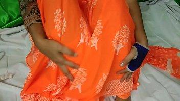 Indian Aunty Orange Saree Sex