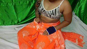 Indian Aunty Orange Saree Sex pornhub video