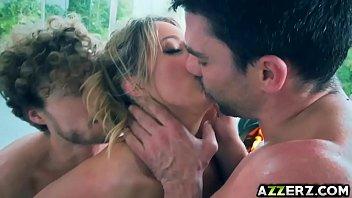 Sexy ass babe Candice Dare threesome anal fuck