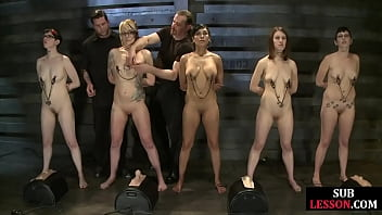 BDSM subs nipple clamped by their master 6分钟