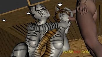 SEXY FURRY CATS SUCKING A BOY III