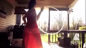 AMATEUR Pregnant MILF Emily in See Through Dress