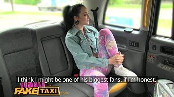Female Fake Taxi Sexy lesbian strap on fuck in cab