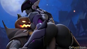 Overwatch Pharah sex lessons in threesome drilling