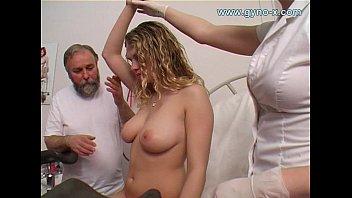 Gyno exam of young busty girl