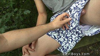 Gay pissing sites - Outdoor handjob