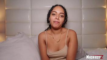 big booty latina girl get fuck by a big dick creampie thumbnail