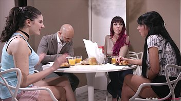 Orgy among friends - Lara de Santis & Sofia Star DPed by big-dicked Christian Clay & Fausto Moreno
