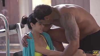 BLACK4K. Personal swimming coach penetrates tight young pussy hard