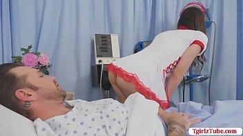 "Tgirl Nurse Korra rides patients cock <span class=""duration"">6 min</span>"