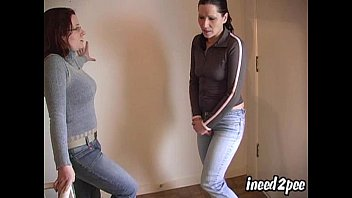 Piss in jeans videos Old ineed2pee trailer girls peeing their pants 6