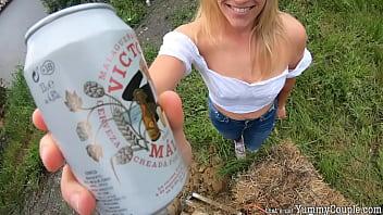 Construction Worker's Daydream - Beer, BJ, Huge Cum On Tits 65 sec