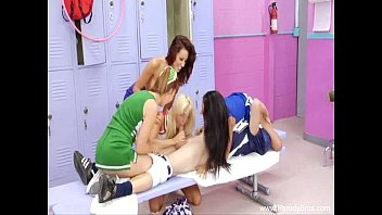 Four Cheerleader Orgy During Halftime 17 min