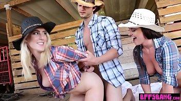 Naughty teens catch a cowboy and use him as a fucktoy porno izle