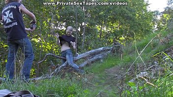 Passionate couple porn scenes in the desolate woods thumbnail