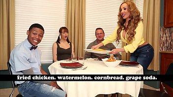 BANGBROS - MILF Richelle Ryan Adopts Lil D's Big Black Cock, Invites Him Over For Dinner