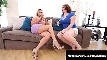 Mega Melons Maggie Green & Thick Nympho Nina Kayy Fuck BBC! 10分钟